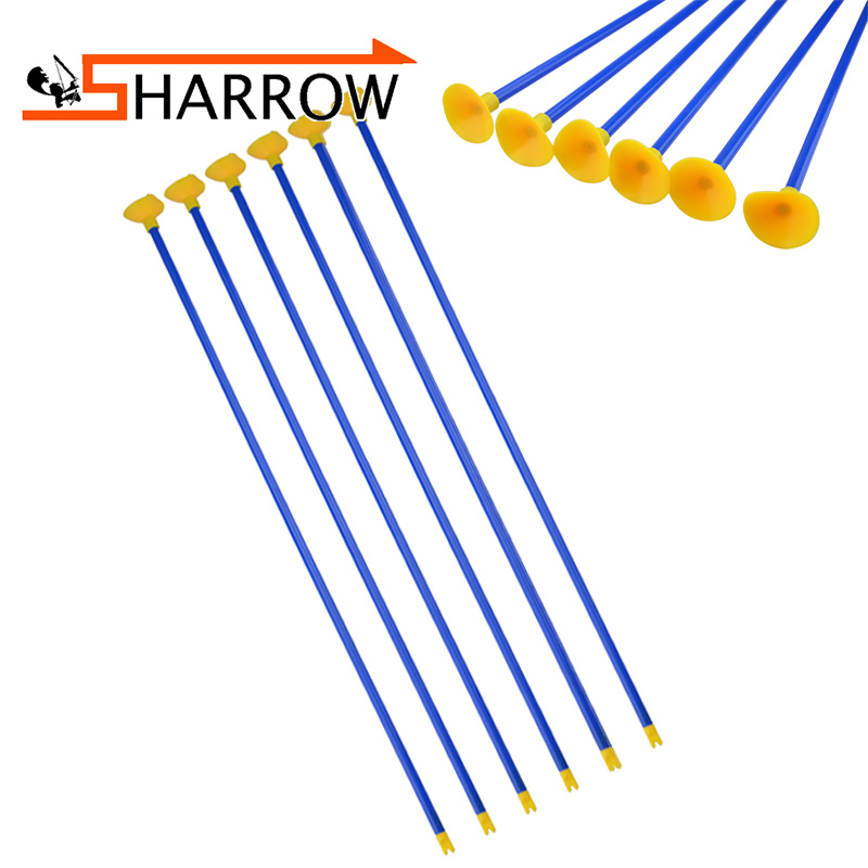 6 Pcs/12 Pcs/24 Pcs Archery Children Sucker Arrows Environmentally Friendly Plastic + Rubber No Lethality Safety Accessories