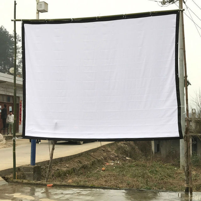 150 Inches Size Screen Wall Portable Projection Screen 16:9/4:3 ...