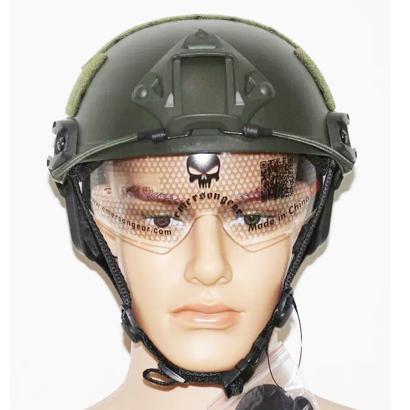 Military Army FAST MICH Type Tactical Helmet With Protective Goggle Adjustable Chin Strap For Airsoft Paintball Base Jump Helmet detroit diesel diagnostic link dddl 8 03 engineering level 3 ts 100% can edit parameters