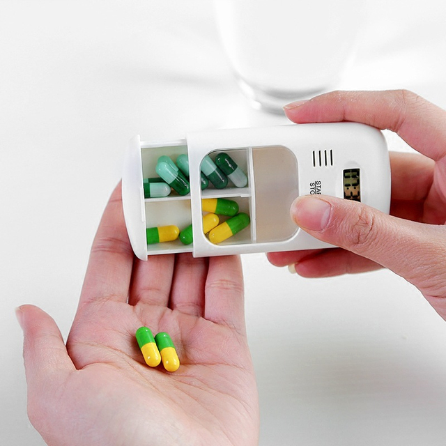 Mini Portable Pill Reminder Drug Alarm Timer 6