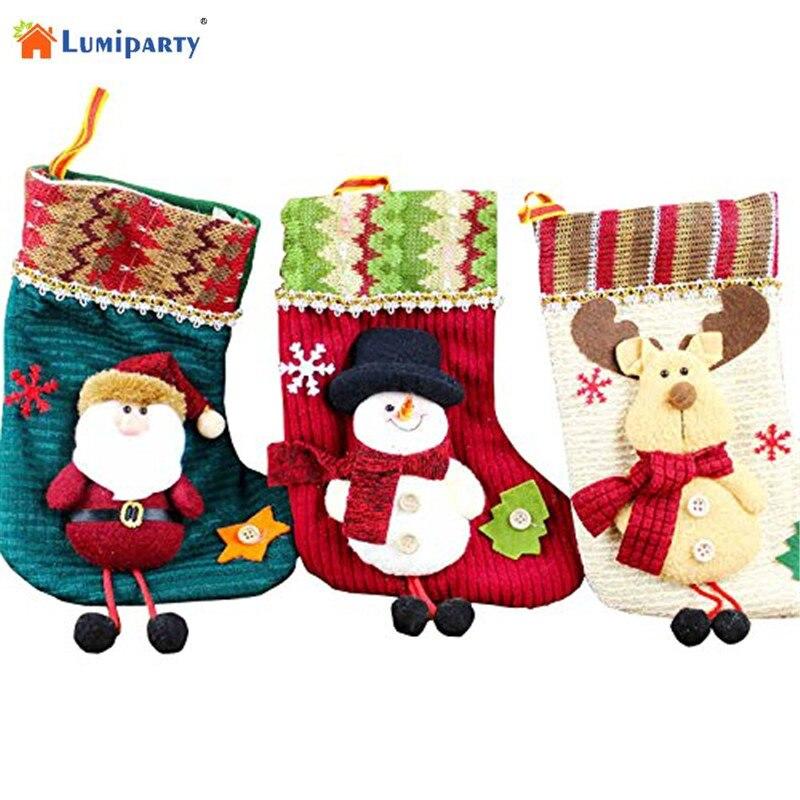 Lumiparty 1pcs 2016 Christmas Stocking Decoration