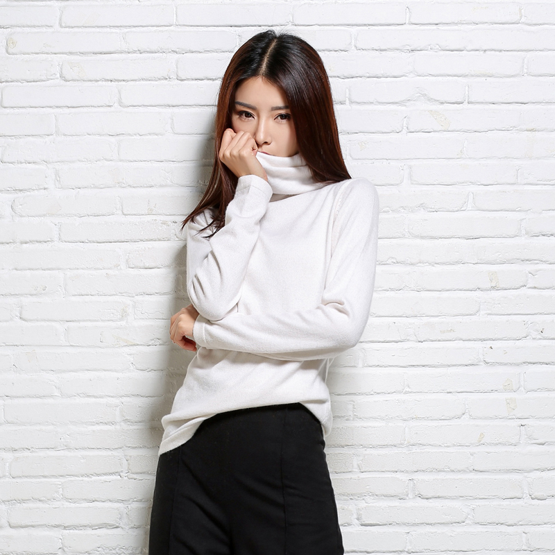New Arrived winter women's Scarf collar cashmere sweater slim turtleneck sweaters sweater shirt comfortable for women