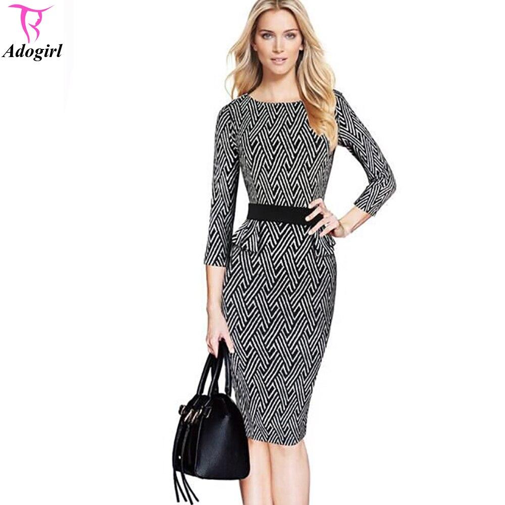 Black dress knee length ruffle