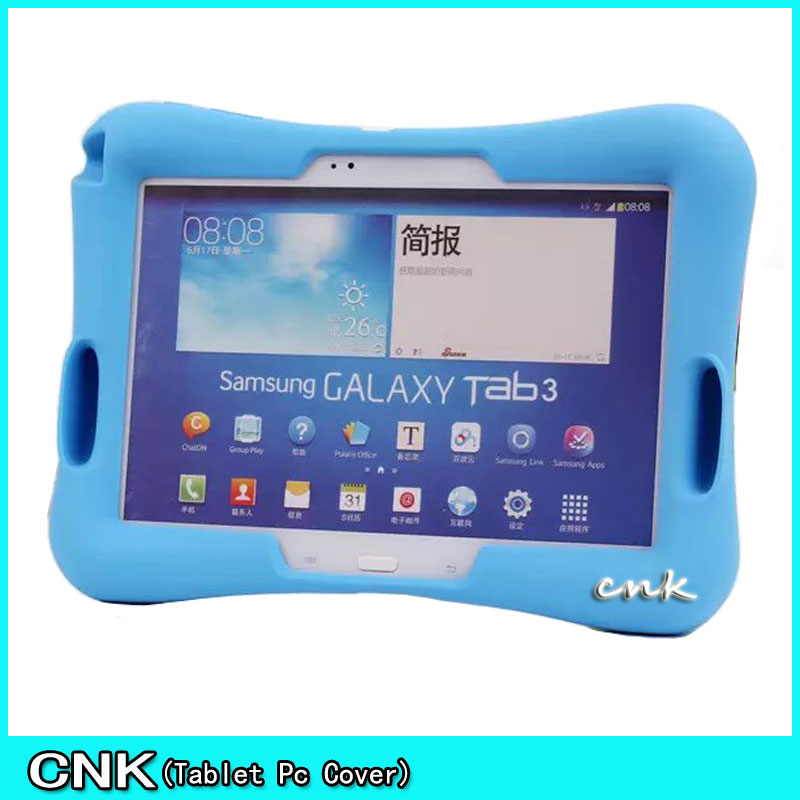 Silicon Kids Baby Shock Proof Foam Stand With Audio Reinforcement Case For Samsung Tab 4 10.1 T530 531/TAB 3 P5200 Cover