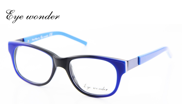 Eye Wonder Kids Eyewear Glasses Brown Blue Black Vintage Retro Handmade Optical Glasses Frames For Baby Boys Metal Decoration