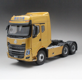 Alloy Model Decoration 1:24 Scale Dongfeng Chenglong H7 Truck Tractor Trailer Diecast Toy Model For Boy,Man Collection,Gift