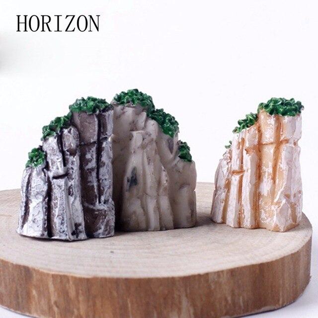 5/10PCS/Set Mini Mountain Miniature Toys Bonsai Ornaments Plant Gardening Garden Accessories Natural Resin Home Decorative 3