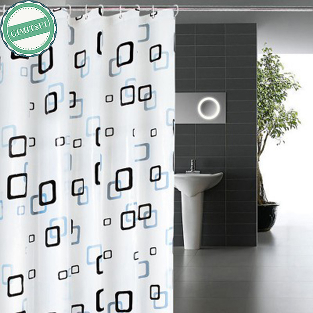 3 Patterns Shower Curtain Liner 180200cm Bathroom Cover Waterproof Fabric Bath Decor