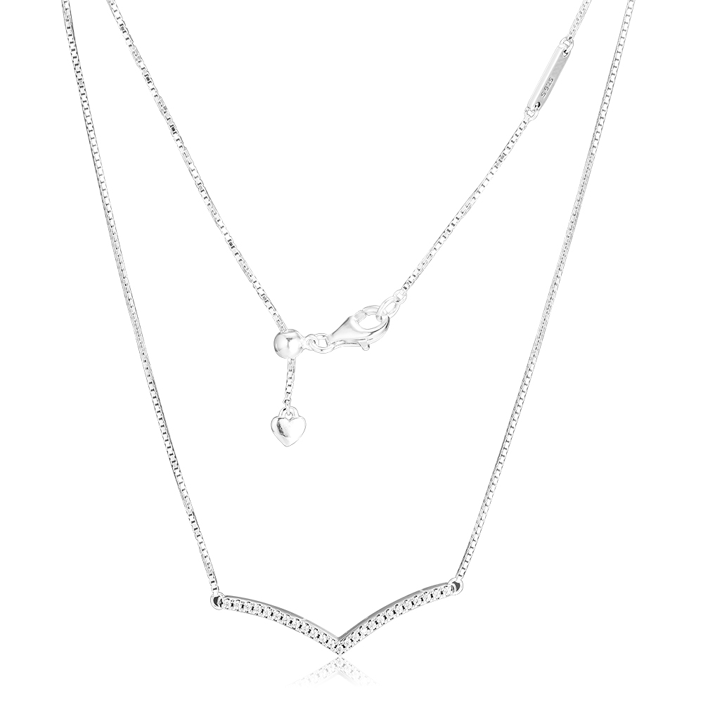 CKK Necklaces & Pendants Shimmering Wish Necklace Pendant Sterling-Silver-Jewelry Silver 925 Original PingenteCKK Necklaces & Pendants Shimmering Wish Necklace Pendant Sterling-Silver-Jewelry Silver 925 Original Pingente