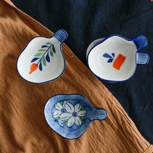 Japanese dishes of hand-painted Weidie dip dish household and creative hand wind ceramic vinegar