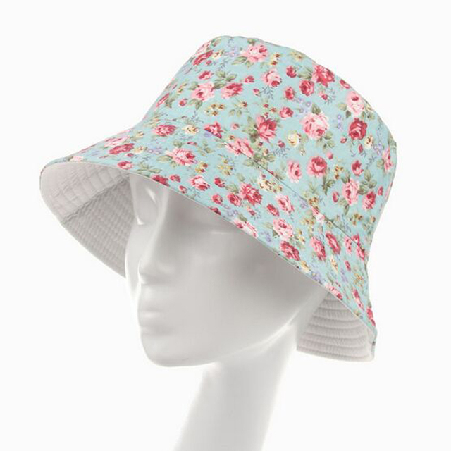 New 2016 Fashion Floral Bucket Hat Size 57-59cm Chapeau Fishing Hats for  Women Summer Sun Hat Caps 10 Models HT51040+35 e047b5344f4