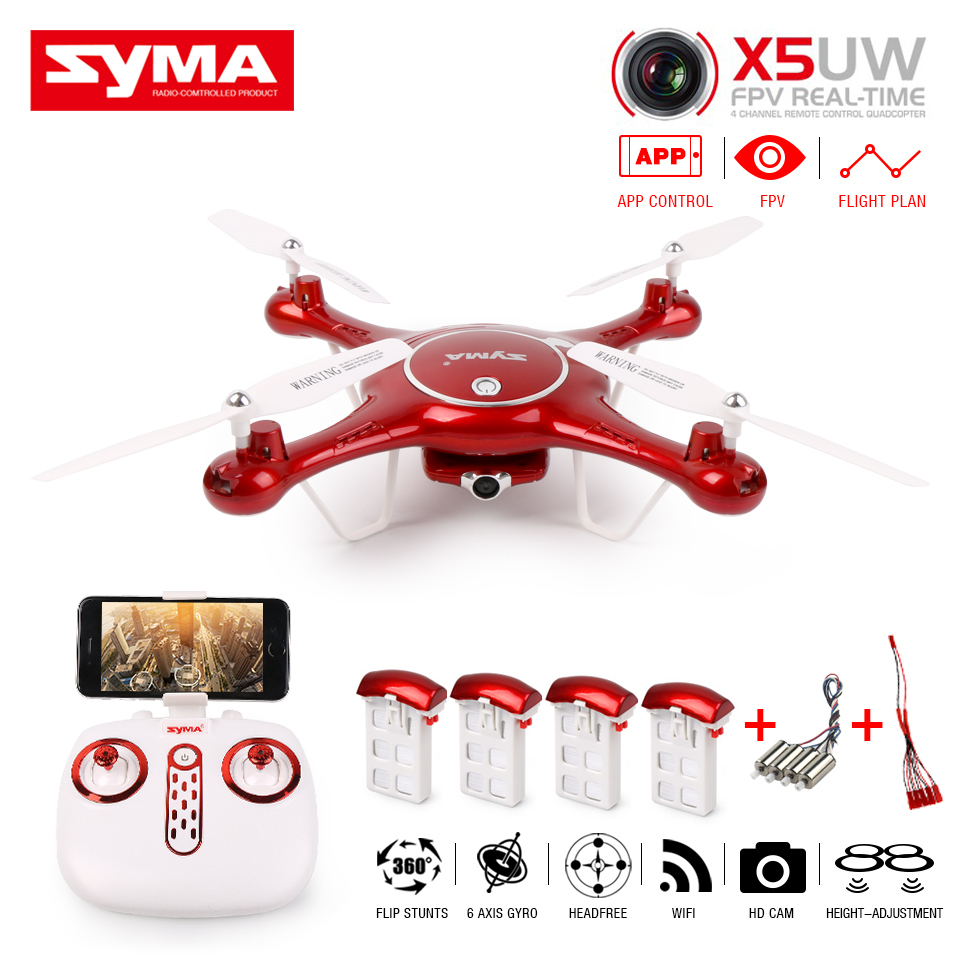 SYMA X5UW X5UC RC Quadcopter Drone 720P 2MP HD FPV Wifi Camera Alititude Hold Mode One-Key Landing 2.4G <font><b>6</b></font> Axis Helicopter image