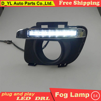 Car styling For Mazda 6 2011 2013 LED DRL For Mazda 6 led fog lamps daytime running lights High brightness guide LED DRL B style