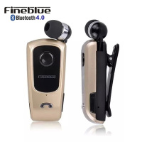 In Ear Earphones Headset FineBlue F920 Wireless Bluetooth Retractable Earbuds Headphones With Collar Clip Calls Remind