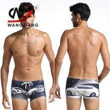 Männliche Unterwäsche Boxer Cuecas Badeanzug Männer Bademode Calzoncillos Hombre Boxer Marca Spandex Druck Bikini String Badeanzug