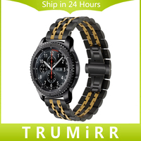 22mm Premium Stainless Steel Watch Band For Samsung Gear S3 Classic Frontier Gear 2 Neo Live