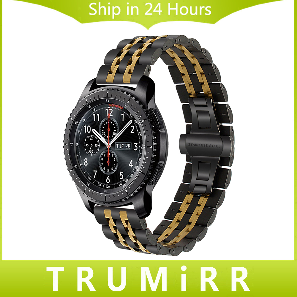 22mm Premium Stainless Steel Watch Band for Samsung Gear S3 Classic Frontier Gear 2 Neo Live Quick Release Strap Wrist Bracelet