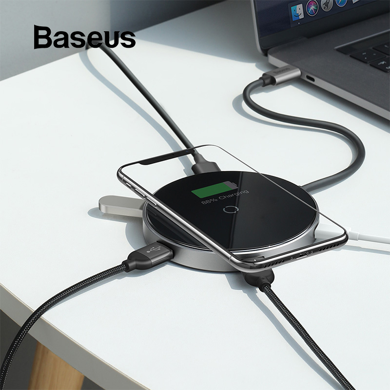 Baseus USB Type C HUB to 3.0 HDMI HUB with Wireless Charge for MacBook Pro Multi USB HUB Computer Accessories Splitter USB C HUBBaseus USB Type C HUB to 3.0 HDMI HUB with Wireless Charge for MacBook Pro Multi USB HUB Computer Accessories Splitter USB C HUB