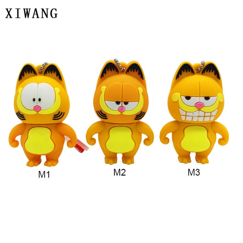 XIWANG cartoon mini Garfield USB flash drive usb2.0 4GB 8GB 16GB 32GB 64GB portable key usb memory stick Pendrive free shipping цены