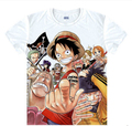 New One Piece Luffy T-shirt Nami Roronoa Zoro Chopper cosplay anime tshirt terylene short sleeve Tops Tees