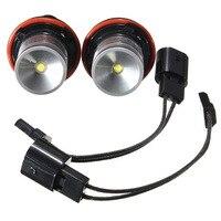 Free Shipping 2pcs 6W LED Angel Eye Halo Headlight Light Lamp Bulb White 6000K For BMW