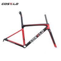 2018 Costelo Speedmachine 3.0 T1000 Carbon Fiber road bike bicycle frame fork seatpost clamp Ultra Light Bike Frame
