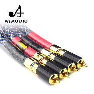 Image 4 - Ataudioワンペアオルトフォン8n ofc hifi rcaケーブル純銅intecconnectオーディオケーブルで炭素繊維rcaプラグ