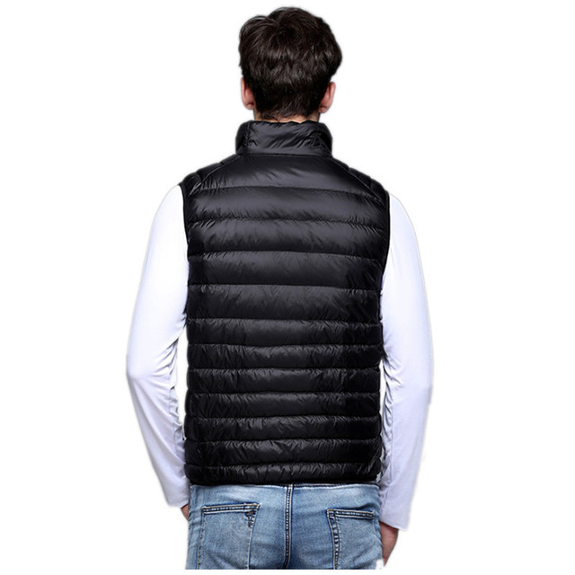 2018 New Fashion  Spring Man Duck Down Vest Ultra Light Jackets Men Fashion Outerwear Coat Autumn Winter Coat