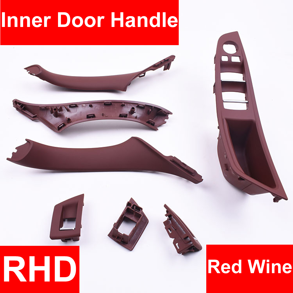4/7PCS Right Hand Drive RHD For BMW 5 series F10 F11 520 525 Wine Car Interior Door Handle Inner Panel Pull Trim Cover Armrest4/7PCS Right Hand Drive RHD For BMW 5 series F10 F11 520 525 Wine Car Interior Door Handle Inner Panel Pull Trim Cover Armrest