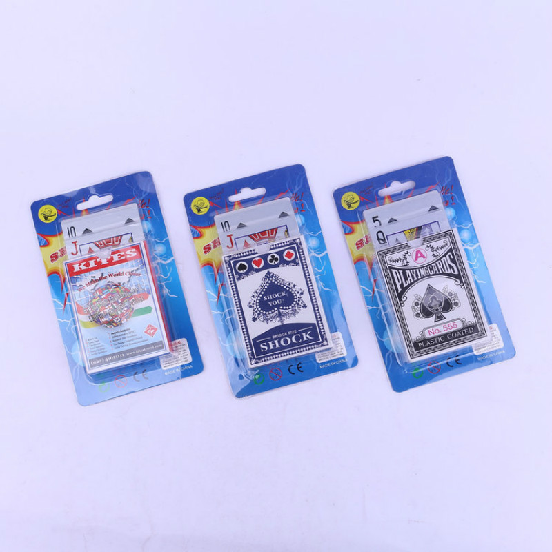 Novelties Electrical Shock Playing Cards Game Gag Set toys Practical Jokes Party Funny toys Props