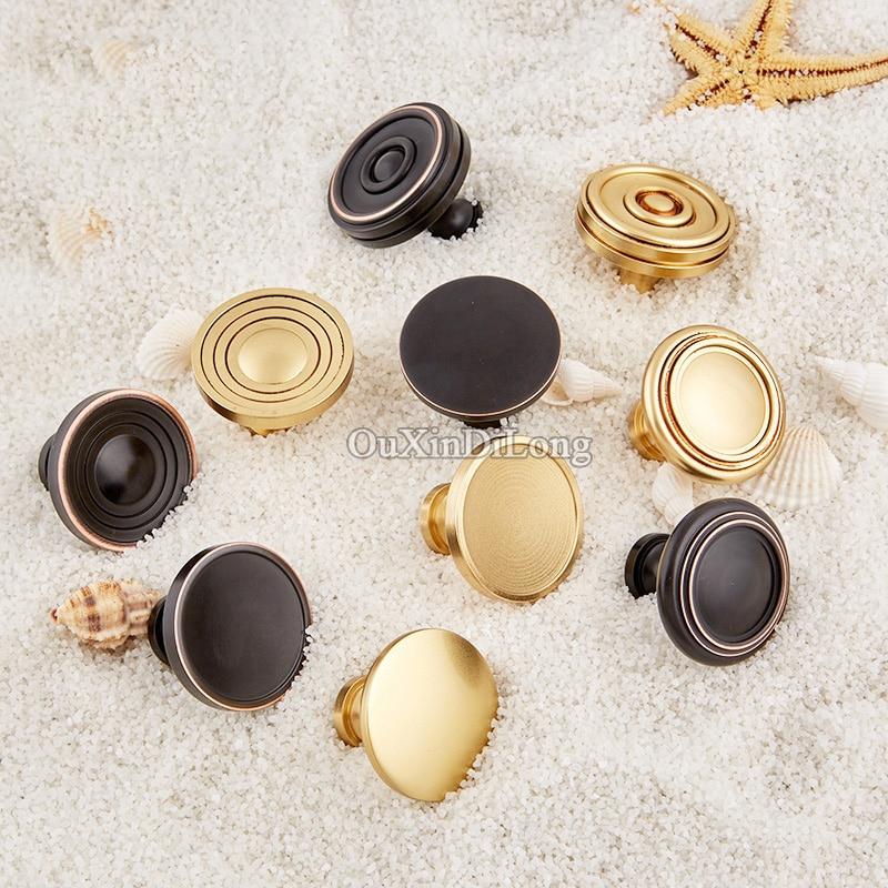Top Quality 10PCS European Brass Kitchen Door Furniture Handles Cupboard Wardrobe Drawer Dresser Wine Cabinet Pull Handles&Knobs
