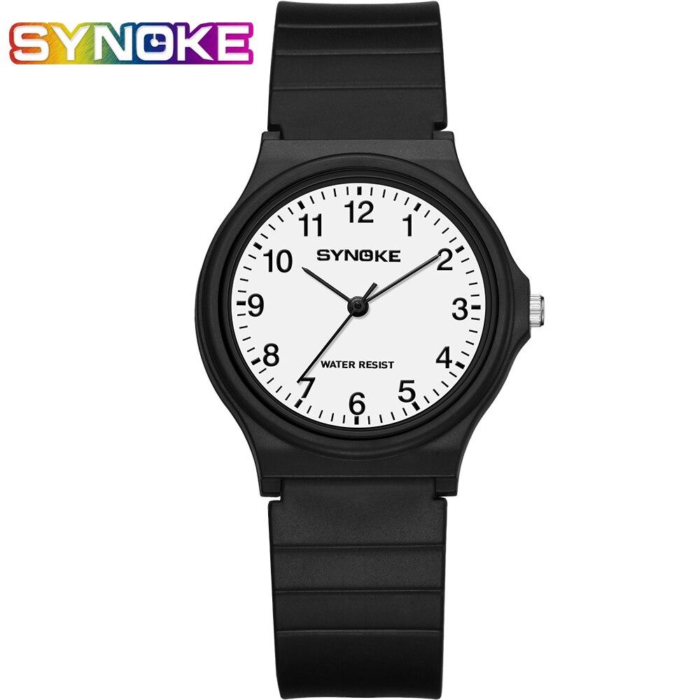 SYNOKE Men Quartz Watches Women Fashion  Simple Relogio Masculino Clock Watch  Casual Student Wristwatch Kol Saati