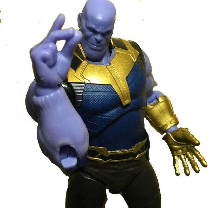 Marvel Avengers Buster Super Hero Thanos Iron Man MK50 Captain America Dr. singular Spiderman flash Action Figure Kid Toy gift
