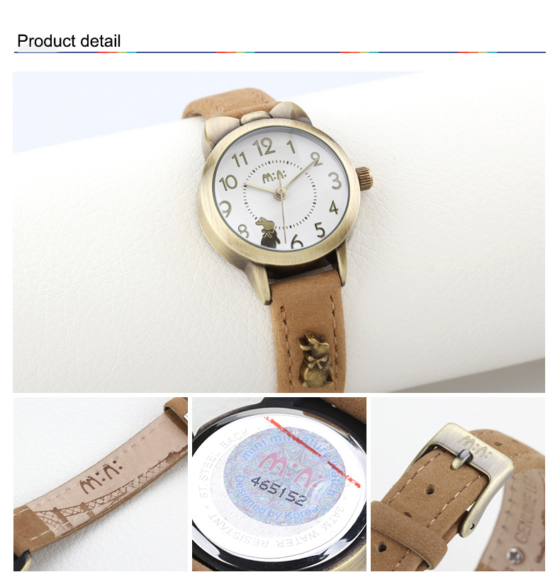 Handmade POLYMER CLAY Korea Cat Design Watch