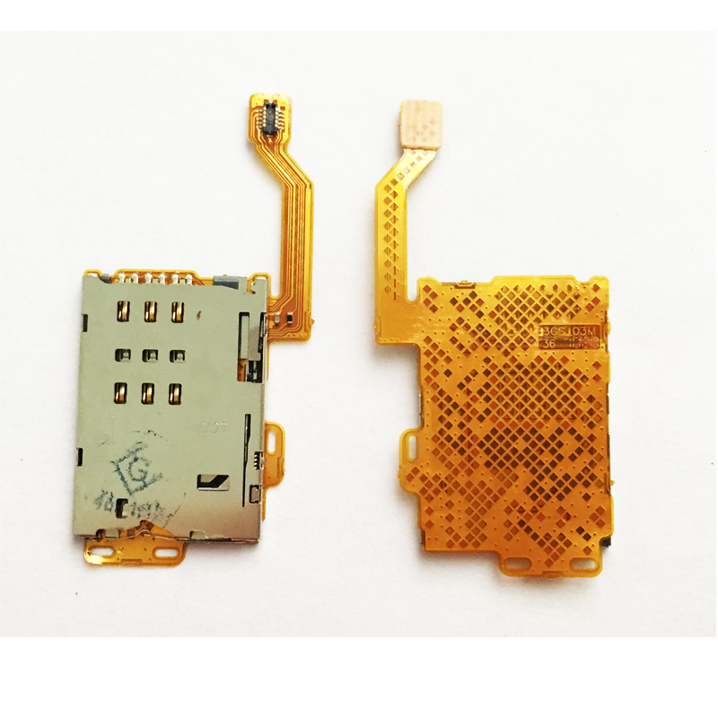 New Sim Cards Adapter For Nokia C7-00 C7 701 SIM Card Reader Slot Holder With Flex Mobile Phone Cable Ribbon