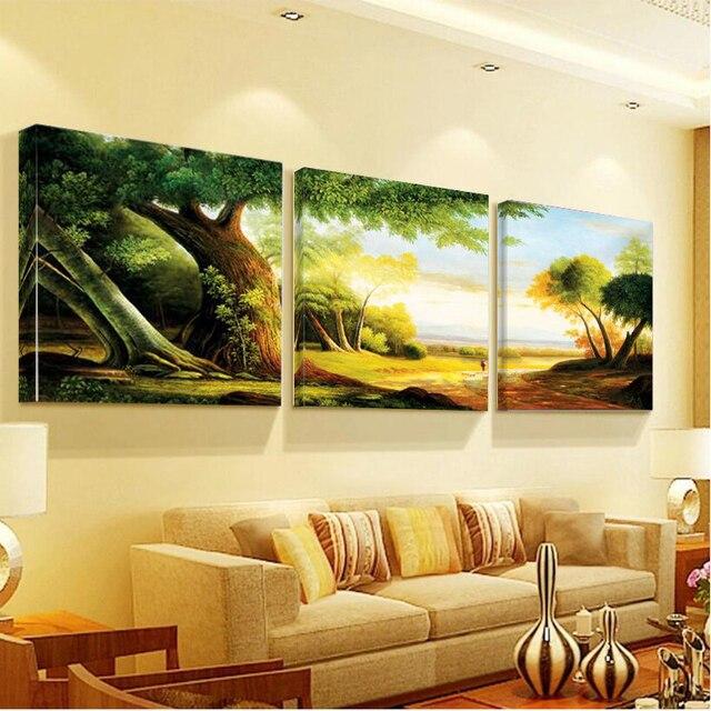 Schon Wandbilder Für Wohnzimmer Leinwand Kunst Natur Landschaften Wald Bäume  Leinwand Malerei Modulare Bild Home Decor Wandmalerei