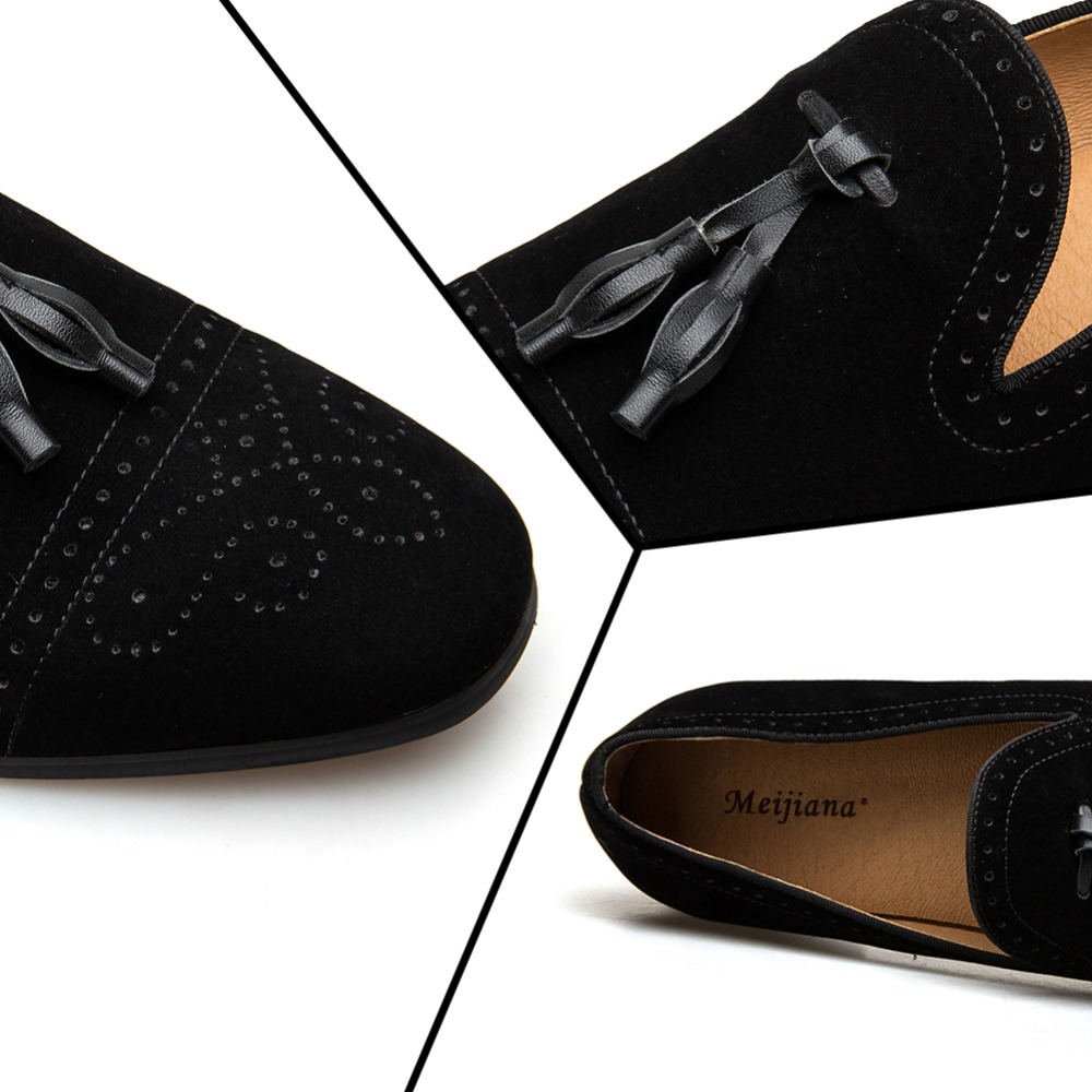 MEIJIANA 2019 Handmade Leather Tassel Loafers Spring and Autumn New-in Men's Casual Shoes from Shoes    3