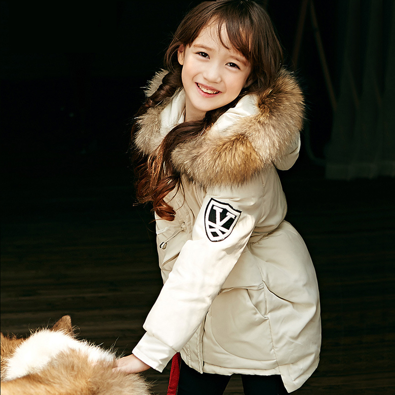 Подробнее о Baby Snowsuit Winter Down Jacket For Girls Children Thicken Warm Coat Parkas Kids Fashion Hooded Natural Fur Jackets Outerwear new 2017 baby boys children outerwear coat fashion kids jackets for boy girls winter jacket warm hooded children clothing
