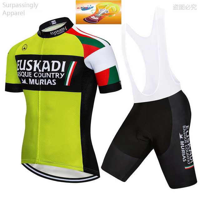 2019 UCI EUSKADI Cycling Jersey Bike Shorts Set TEAM Ropa Ciclismo Mens  Summer Bicycle Jersey Wear Maillot Culotte 16D Gel Pad 2c76ec6f4