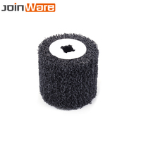 1Pc Black Poly Drawing Polishing Burnishing Wheel Abrasive Tool For Metal Rust Removal Cleaning New 110x100x20MM