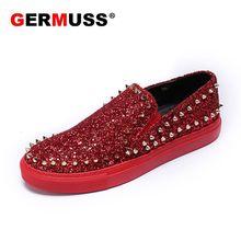 buy popular 76087 0330b Wholesale designer spikes men shoes Rivets Luxury Brand ...