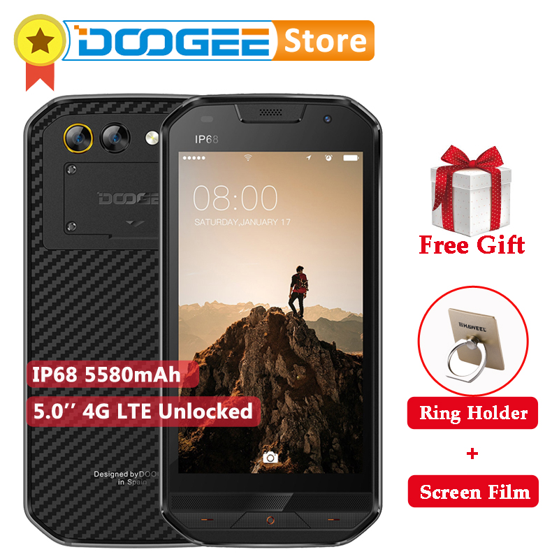 DOOGEE S30 IP68 5580mAh Android 7 0 Smartphone Dual Camera Quick Charge 5 0 HD MTK6737