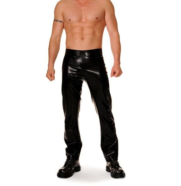 Black Latex Long Jeans Latex Pants Rubber Mens Trousers