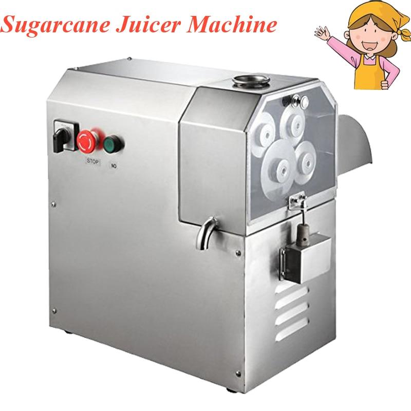 1pc 3 or 4 Rollers Sugarcane Juicer Machine Stainless Steel Electric Sugarcane Blender