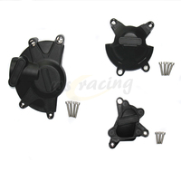 Motorcycle Black Engine Cover Protection Case Set Kit For YAMAHA YZF R1 YZF R1 2009 2014 09 10 11 12 13 14