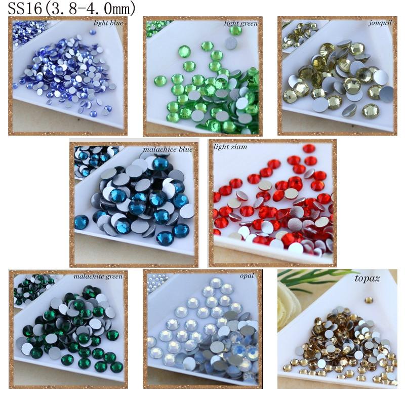 Smykker som gjør perler 1440pcs / pakke SS16 lim på flatback, - Kunst, håndverk og sying - Bilde 2