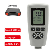 Gray EC-770S coating paint thickness gauge AUTO tester F&NF range 0-2000um coating thickness tester Width Measuring