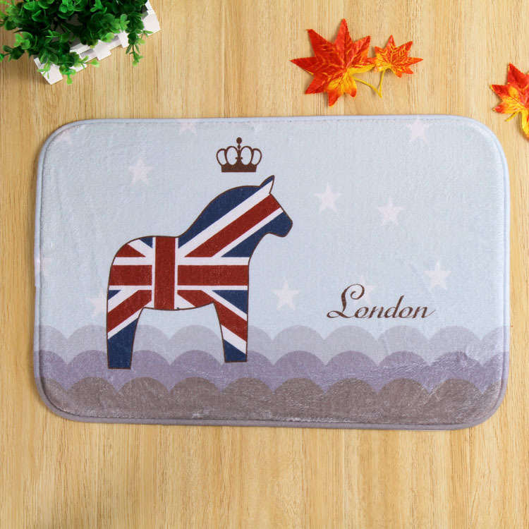 Free Shipping Custom British Pony Rectangular Carpet Living Room Bedroom  Non Slip Floor Mat For