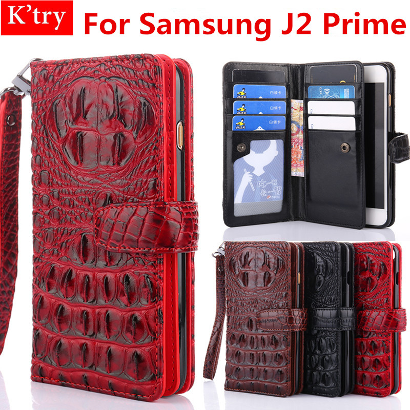 3D Couverture de Style De Crocodile Pour Samsung Galaxy J2 Premier De Luxe Portefeuille En Cuir Flip Cas Pour Galaxy J2 Premier Fundas