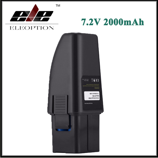 Eleoption High Capacity 7.2V 2000mAh Black Vacuum Battery Fits For Ontel Swivel Sweeper G1 & G2 Compare to Part RU-RBG
